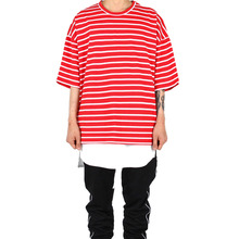 [Xsacky] Overfit Stripe T-Shirt Red