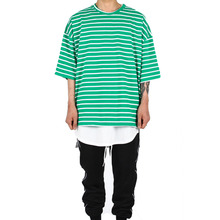 [Xsacky] Overfit Stripe T-Shirt Green