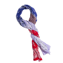 [KRUCHI] Paisley x 3 Scarf - (red,blue,light purple)