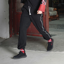 [199XKIDS] POINT LINE TRAINING PANTS (BLACK)