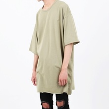 [Nar_Yoke] Super Overfit Cut T-Shirt - Olive