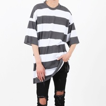 [Nar_Yoke] Super Overfit T-Shirt - Olive -Charcoal/Off white