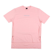 [10%할인][EINEN]Peerless Doubleside Zipper 1/2 T-Shirts Pink