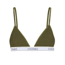 [Chonies Brand] Ribbed Triangle Bra in Olive