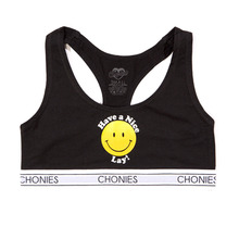 [Chonies Brand] Have A Nice Lay Sports Bra - Black