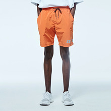 [DVINE STUDIO] WATER PROOF SCOTH LOGO PANTS (ORANGE)