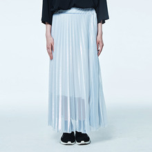 [DVINE STUDIO] PLEATED SKIRT (SILVER)