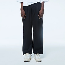 [DVINE STUDIO] WIDE SLACKS PANTS (BLACK)