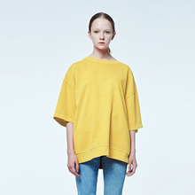 [DVINE STUDIO] OVER FIT PIGMENT TEE (YELLOW)
