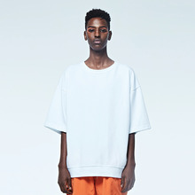 [DVINE STUDIO] OVER FIT PIGMENT TEE (WHITE)
