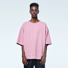 [DVINE STUDIO] OVER FIT PIGMENT TEE (PINK)