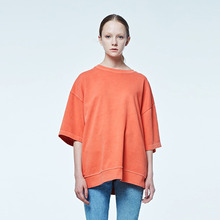 [DVINE STUDIO] OVER FIT PIGMENT TEE (ORANGE)