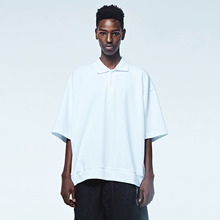 [DVINE STUDIO] OVER FIT PIGMENT PIQUE TEE (WHITE)