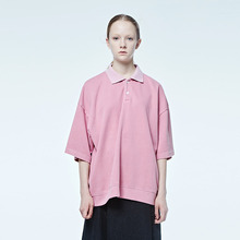 [DVINE STUDIO] OVER FIT PIGMENT PIQUE TEE (PINK)