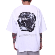 [FADE6] Skull Ghost Boxy T-Shirt White