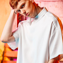 [A PAPER CUT] (20%할인) Cut Collar Shirts - White