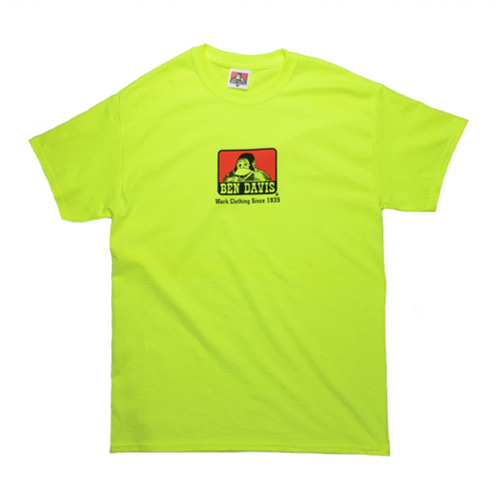 [Ben Davis] Classic Logo Solid T-Shirts - Safety Green