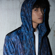[CLOSKIN]Camo 3M Scotch Wind Breaker- Violet, Blue, Red