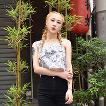 [S'BLZ] Bandanna crop sleeveless - White