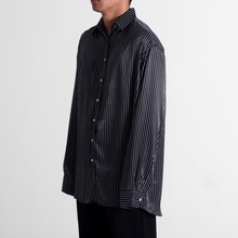 [페노메코착용][Coup de Grace] BLACK STRIPE OVERSIZED SHIRT