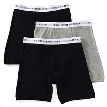 [Tommy Hilfiger] Cotton Boxer Brief 3pack - Black/Grey/Black