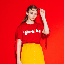 [RUNNINGHIGH] Yachting Slit Sleeve Cut&sewn - Red