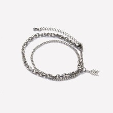 [RUSHOFF]Silver Arrow OverChain Bracelet (Surgical Steel)
