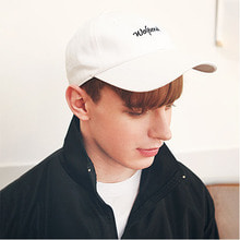 [51%sale] [WOLPENDER] (Unisex) Script Twill Ball-Cap (White) [STYLE NO : 4]