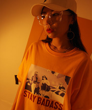 [199XKIDS] CARTOON PRINT T-SHIRTS (YELLOW)