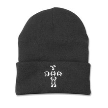 [DOGTOWN] Cross Letter Beanie - Black