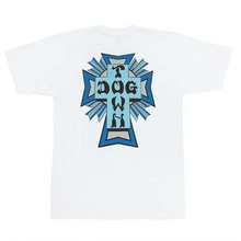 [DOGTOWN] Cross Logo Color T-Shirt - White