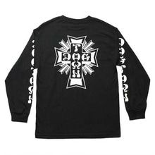 [DOGTOWN] Cross Logo Long Sleeve T-Shirt - Black