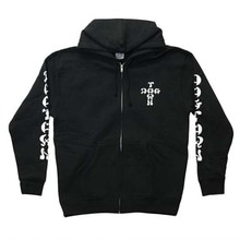 [DOGTOWN] Cross Logo Zip Hooded - Black