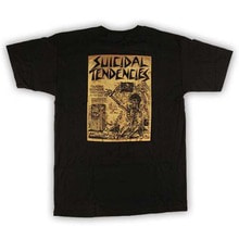 [DOGTOWN] Suicidal Punk Flyer T-Shirt - Black