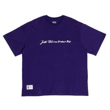 [JUSTO]SIGNATURE OVERTSHIRTS-PURPLE