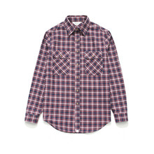 [LAFUDGESTORE] (Unisex) Check Shirt Red Navy Tartan