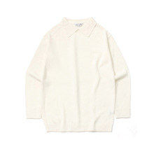 [LAFUDGESTORE] Basic Collar Knit_Ivory