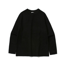 [LAFUDGESTORE] Basic Knit Tee_Black