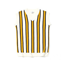[LAFUDGESTORE] [퍼퓸니트] Color Knit Vest_Mustard