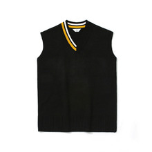 [LAFUDGESTORE] [퍼퓸니트] Unbalance Over V Neck Knit_Black