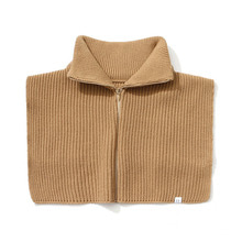 [LAFUDGESTORE] [퍼퓸니트] Zipper Knit Warmer_Camel