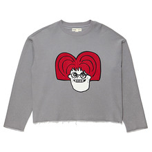 [BC by beyondcloset] [COLETTE EDITION] RED NERD BOY PATCH CROP SWEAT-SHIRTS DEEP GRAY