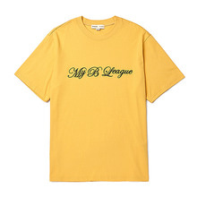 [BC by beyondcloset] [COLETTE EDITION] LOGO NEEDLEWORK 1/2 T-SHIRTS MUSTARD