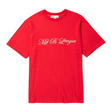 [BC by beyondcloset] [COLETTE EDITION] LOGO NEEDLEWORK 1/2 T-SHIRTS RED