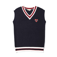 [9/20출고] [BC by beyondcloset] NOMANTIC OVERFIT KNIT VEST NAVY