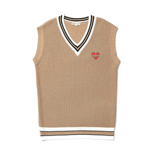 [9/20출고] [BC by beyondcloset] NOMANTIC OVERFIT KNIT VEST BEIGE