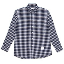 [MELROY] UNISEX Song Check Shirts (NAVY)