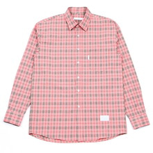 [MELROY] UNISEX Jay Check Shirts (PINK)