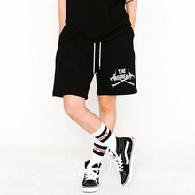 [SUPER DRINK] Cross Bones Sweat Shorts-Black