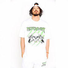 [SUPER DRINK] Miscreant Scratch Overfit T-Shirt-White